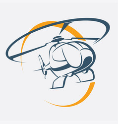 helicopter icon stylized symbol vector image