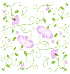 Flower background vector