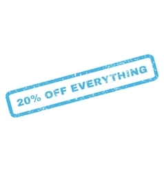 20 Percent Off Everything Rubber Stamp vector image