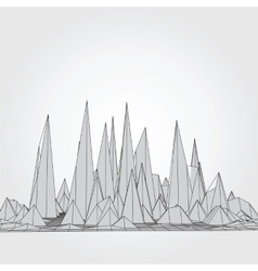 Mountains 3d concept vector