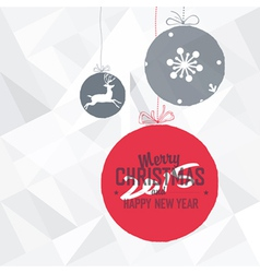new year 2015 card white vector image