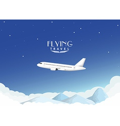 Airplane travel background vector