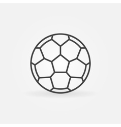 Soccer ball icon or logo vector