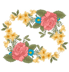 vector illustration of stylish floral background vector image