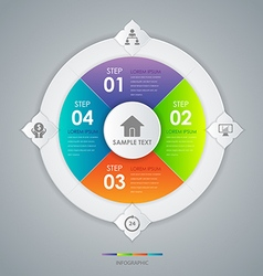 Infographic design circle concept vector image