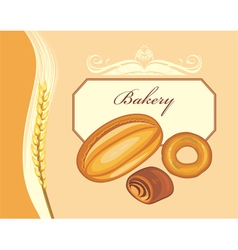 Label for bakery shop design vector