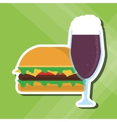 Sandwich design healthy food menu icon vector