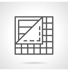 Floor covering black line icon vector