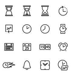 Thin line icons - time vector