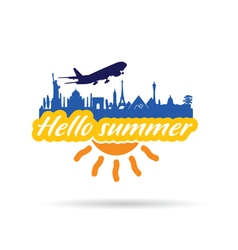 Hallo summer with historic monument vector