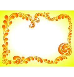 Abstract ornament bright frame vector
