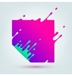 Abstract Colored Square vector image vector image