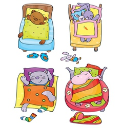 Animals sleep vector