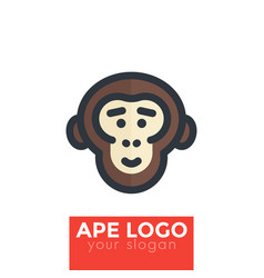 Ape chimp logo element vector