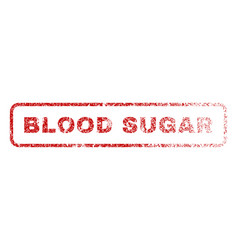 Blood sugar rubber stamp vector