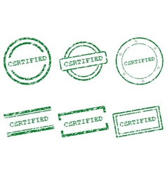 Certified stamps vector image