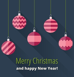 Christmas card with Christmas decoration vector image