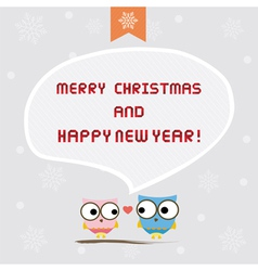 Christmas greeting card9 vector image