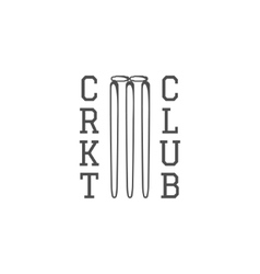 Cricket club emblem design logo badge vector image