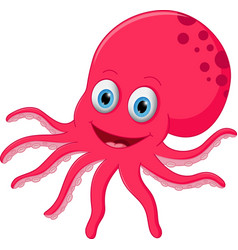 cute octopus cartoon vector image vector image