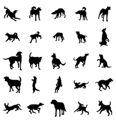 Dog silhouettes set vector