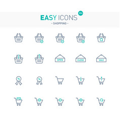 Easy icons 32e shopping vector