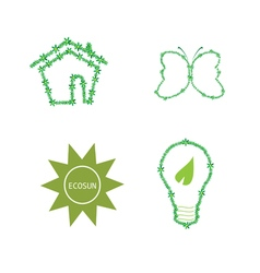 eco icon green vector image