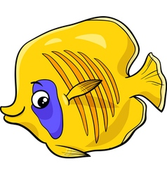 exotic fish cartoon character vector image vector image
