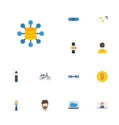 Flat icons hipster arrow vlog and other vector