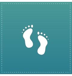 Footprint - icon vector