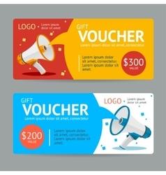Gift VoucherFlat Design vector image vector image