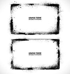 Grunge textured frames vector image vector image