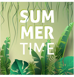 Hello summer summertime the text poster against vector