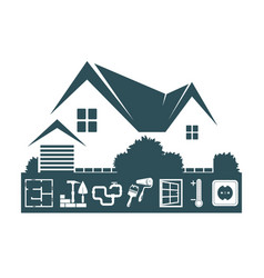 home construction design vector image