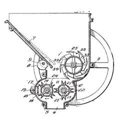 ice machine vintage vector image vector image