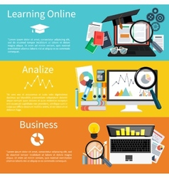 Learning online analize and business vector