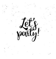 Lets party element vector