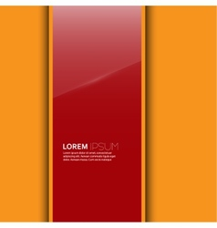 Red glossy blank with a background vector image