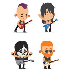 rock musicians vector image