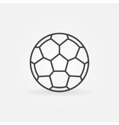Soccer ball icon or logo vector image