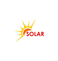 Solar energy abstract logo vector