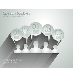 Speech Bubbles with delicate Shadows vector image vector image