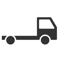 Truck chassis flat icon vector