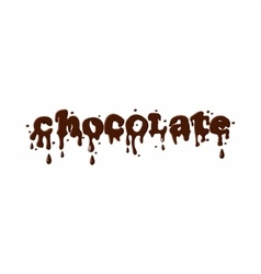 Word chocolate icon vector