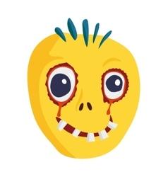 Zombie Head Cartoon Character vector image