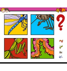 Activity game with insects vector