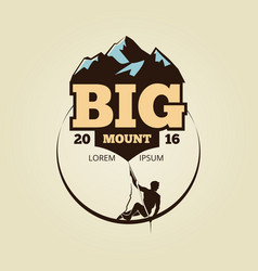 Vintage mountain climbling logo - sport activity vector