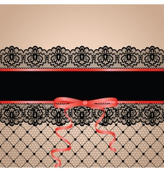 Black garter and stocking vector
