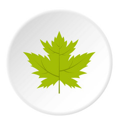 Green currant leaf icon circle vector
