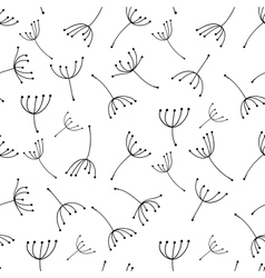 Dandelion seamless pattern for your design vector image
